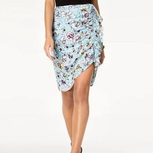 GUESS DOTTY RUCHED ZIPPED SKIRT